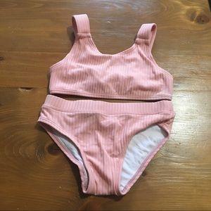 Cotton On Kids Pink Two Piece Bikini Swimsuit